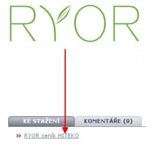 Ceník RYOR